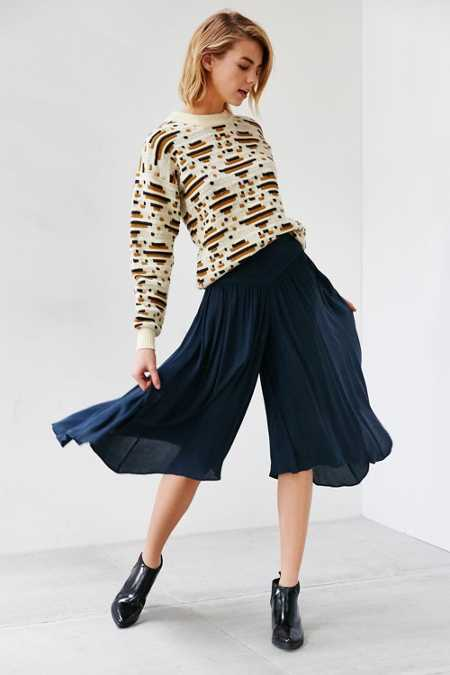 Ecote Laney Skirted Graze Wide-Leg Crop Pant