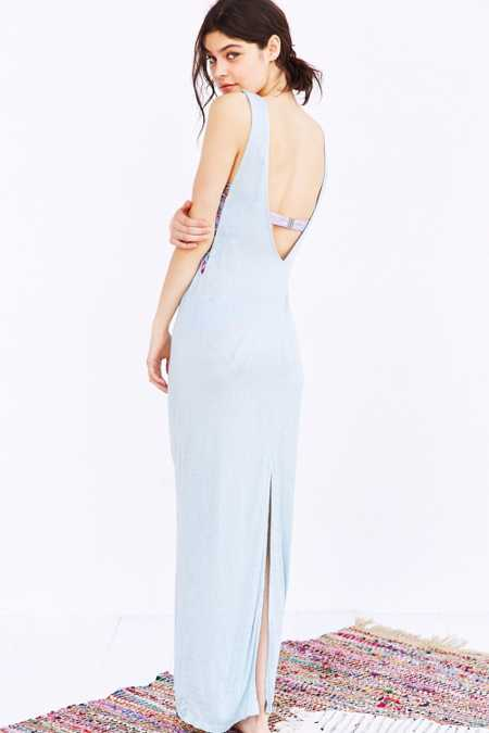 Out From Under Lace Me Up Maxi Slip Dress