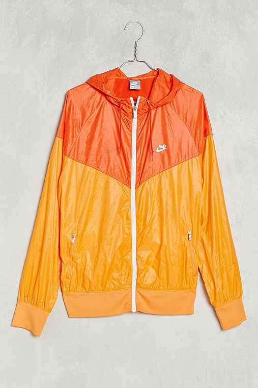 Vintage Nike Windbreaker Jacket,ORANGE,ONE SIZE