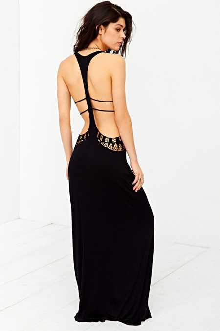 Staring At Stars Crochet Cutout Cover-Up Maxi Dress - Urban Outfitters