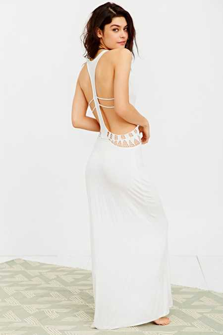 Staring At Stars Crochet Cutout Cover-Up Maxi Dress