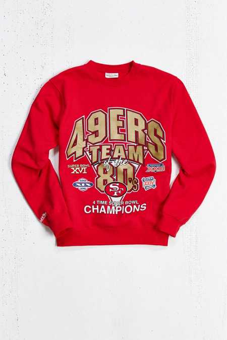 Mitchell & Ness San Francisco 49ers Crew Sweatshirt
