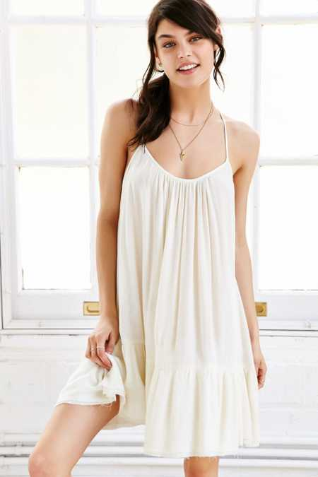 Out From Under Gauze Tiered Slip Dress