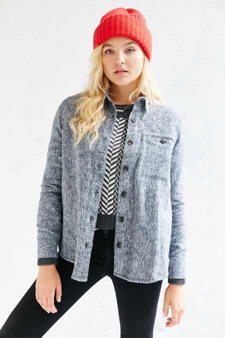 BDG Quilted Shirt Jacket