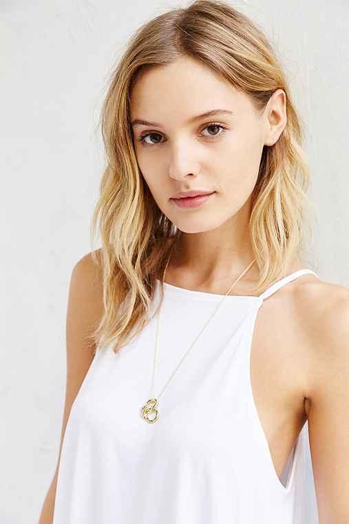 VERAMEAT Pretzel Necklace,GOLD,ONE SIZE