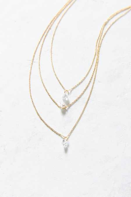 Dripping Crystals Necklace
