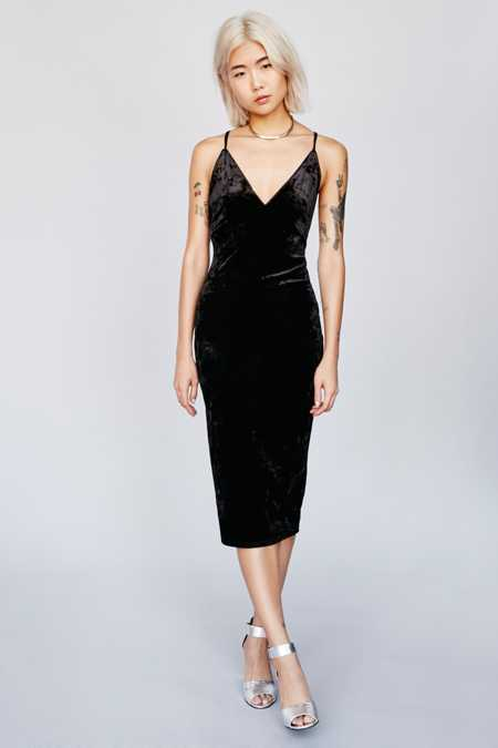 Ophelia Crushed Velvet Bodycon Dress