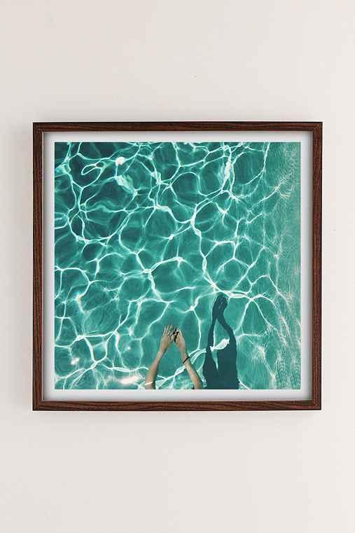 Max Wanger Diver Art Print,WALNUT WOOD FRAME,16X16