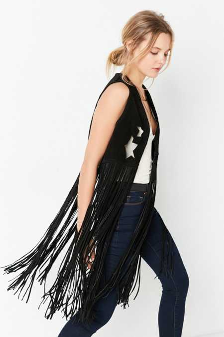 US By Understated Leather for UO Starry Suede Fringe Vest