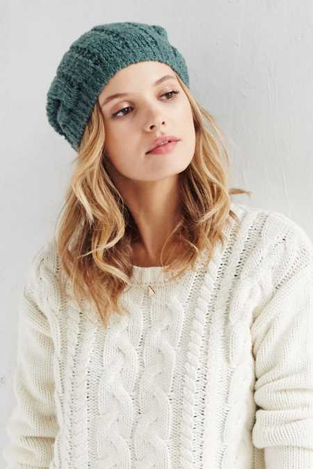 Open Boucle Slouch Beanie