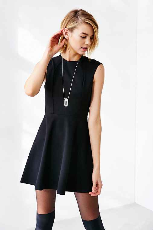 Silence + Noise All Nighter Fit + Flare Dress,BLACK,L