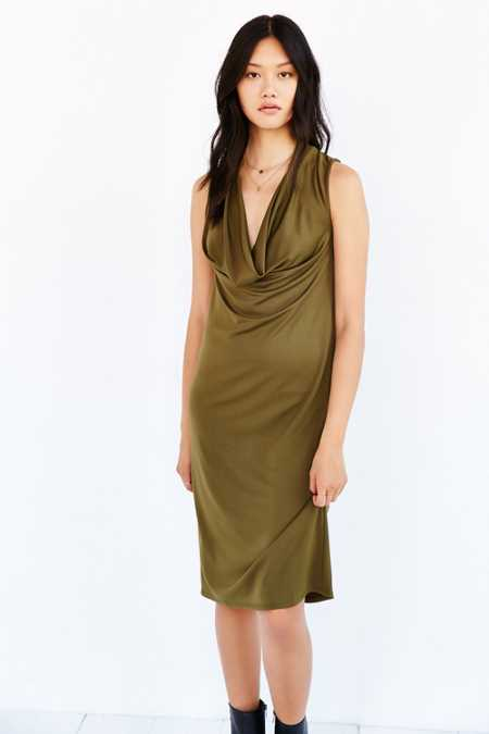 Silence + Noise Sleeveless Cowl Neck Dress