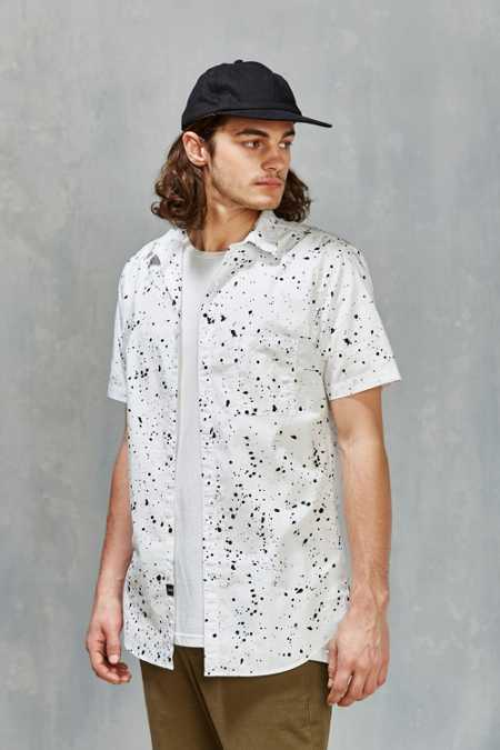 ZANEROBE Splatter Short-Sleeve Button-Down Shirt