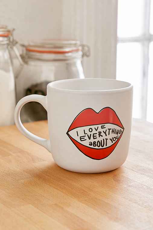 I Love Everything About You Mug,RED,ONE SIZE