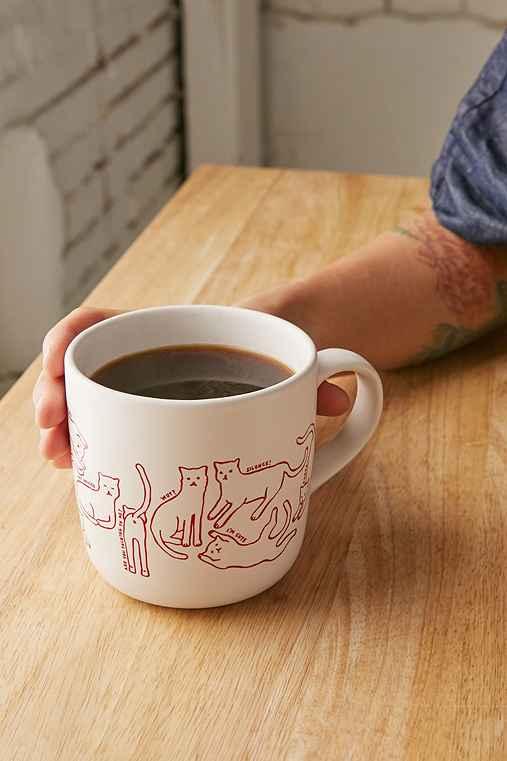 Cat Mug,MAROON,ONE SIZE