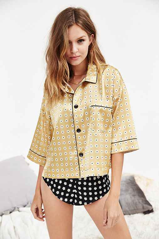 Out From Under Patsy Pajama Top,MUSTARD,S