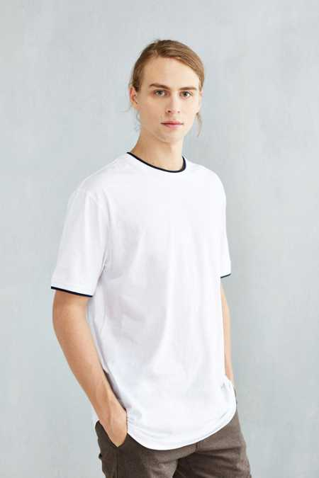 The Narrows Tipped Ringer Scoop Tee