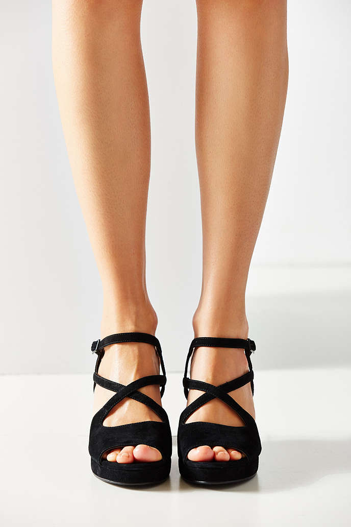 Gina Suede Strappy Heel - Urban Outfitters