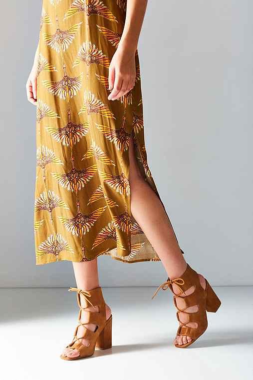 Lace-Up Heel,BROWN,10