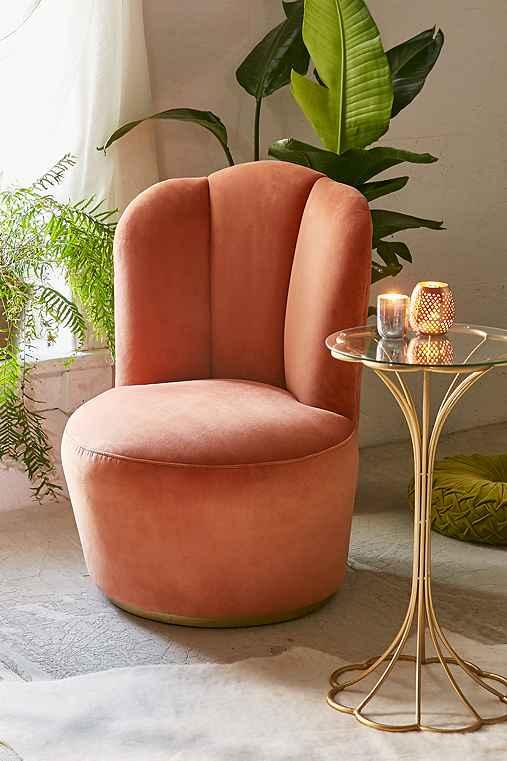 Julie Swivel Chair,PEACH,ONE SIZE