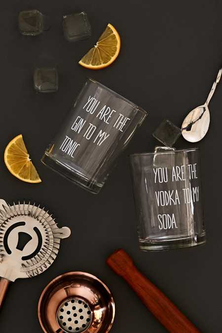 you are the gin to my tonic drinking glasses
