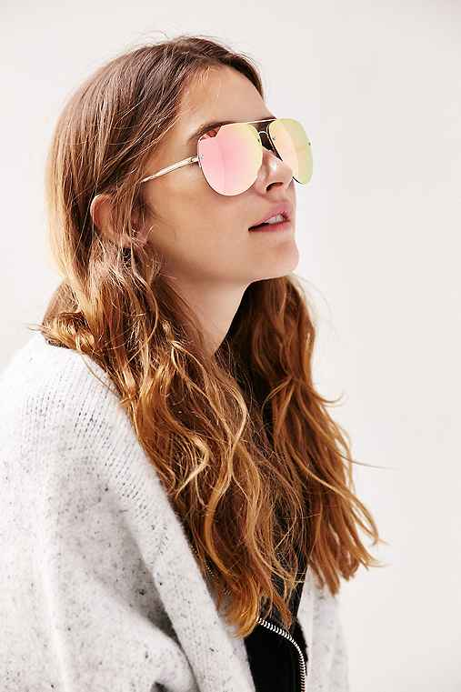 Quay Muse Sunglasses,GOLD,ONE SIZE