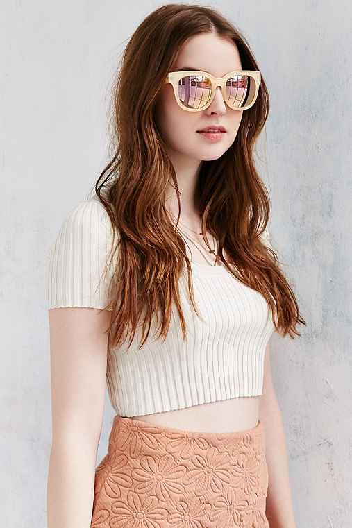 Quay X Amanda Steele Envy Sunglasses,NUDE,ONE SIZE