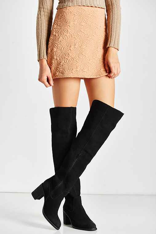 Jeffrey Campbell Raylan Over The Knee Boot,BLACK,6