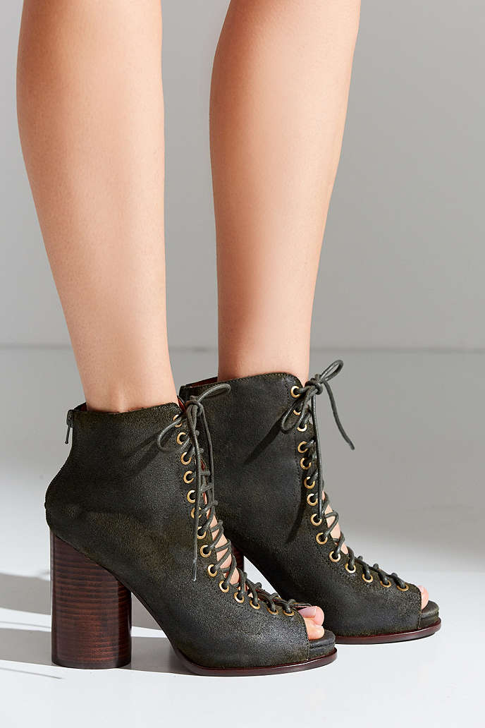 Jeffrey Campbell Free Love Lace-Up Heel - Urban Outfitters