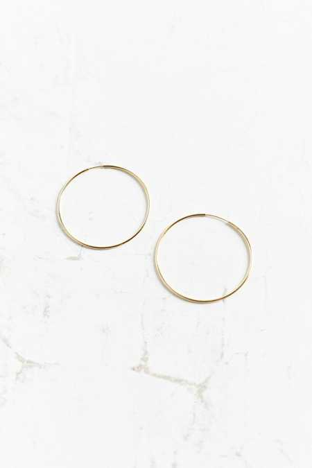 18K Gold + Sterling Silver Small Hoop Earring