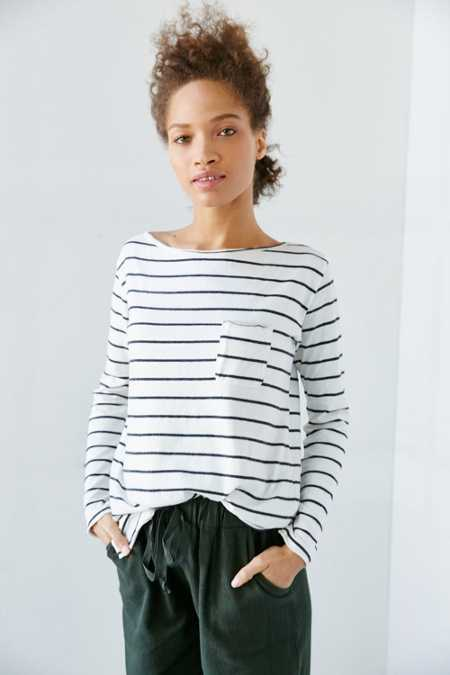 Truly Madly Deeply Ronnie Striped Long-Sleeve Tee