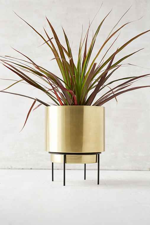 Adelphi Metal Planter,GOLD,ONE SIZE