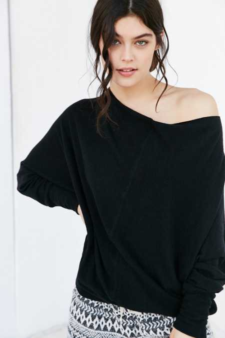 Project Social T Seamed Slouchy Pullover Sweatshirt