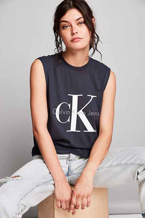 Calvin Klein For UO Muscle Tee,NAVY,S