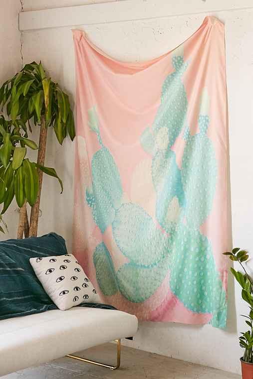 Kangarui For DENY Pastel Cactus Tapestry,PINK,ONE SIZE