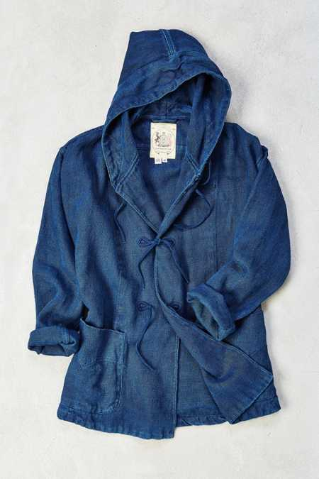 Monitaly Hemp Indigo Field Jacket