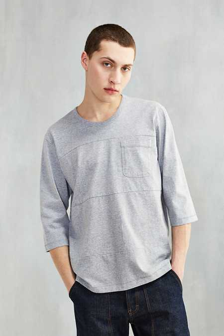 Monitaly 3/4 Sleeve Blocked Tee