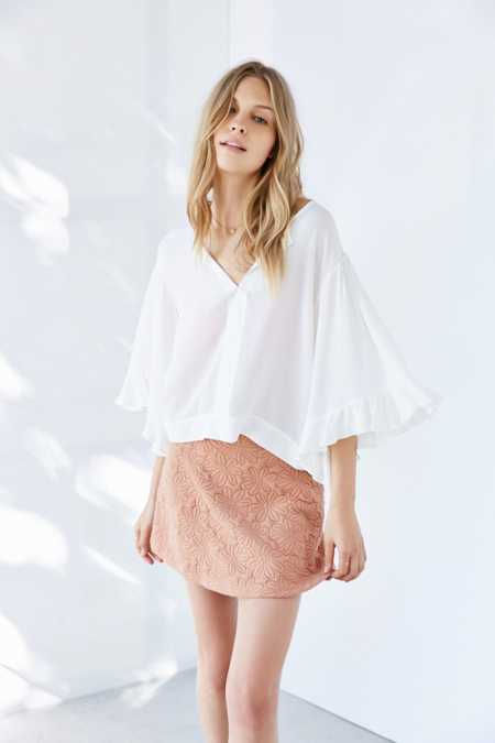 Cooperative Flutter Bell Sleeve Blouse