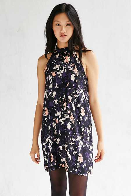 Native Youth Grunge Floral Swing Dress