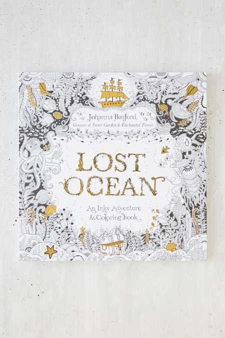 Lost Ocean: An Inky Adventure Coloring Book By Johanna Basford
