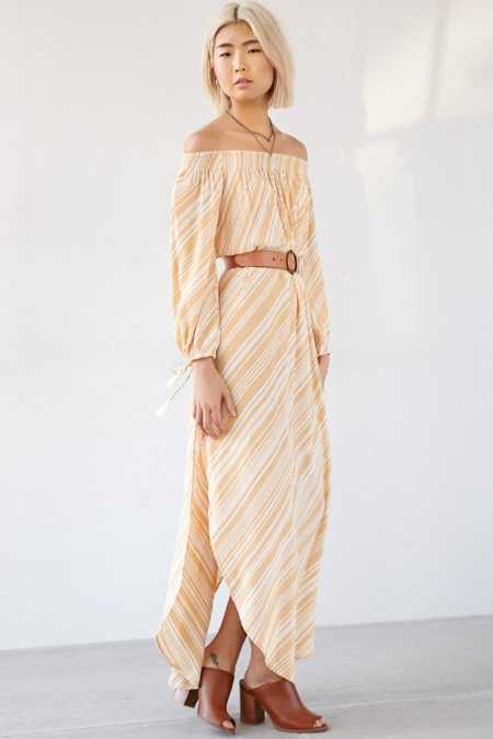 Faithfull The Brand Cecil Off-The-Shoulder Maxi Dress