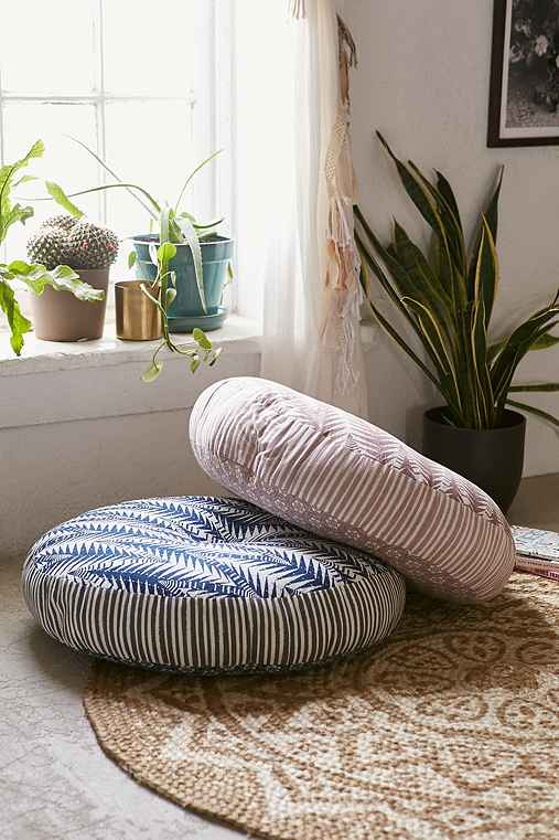 magical thinking pilpil mixed pattern floor pillow urban outfitters. Black Bedroom Furniture Sets. Home Design Ideas