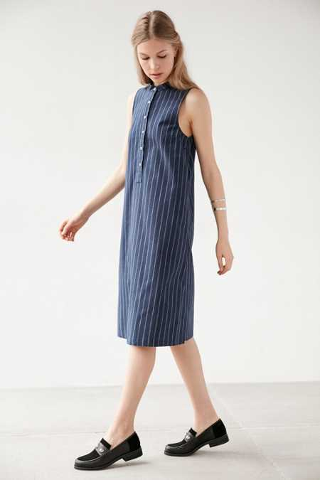 Lucca Couture Yarn Dye Button-Down Midi Dress