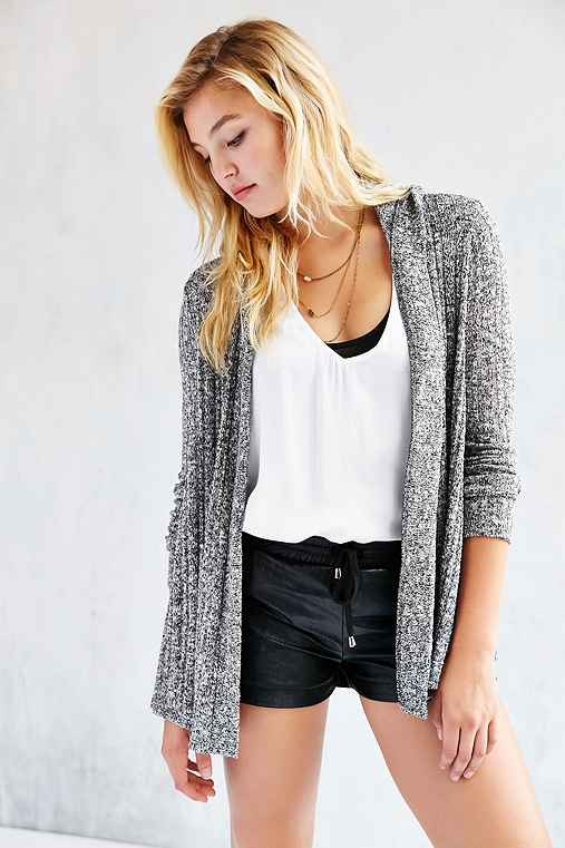 BDG Milo Open Cardigan,BLACK & WHITE,M
