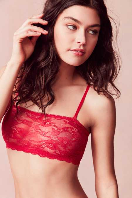 Out From Under Removable Strap Lace Bandeau Bra