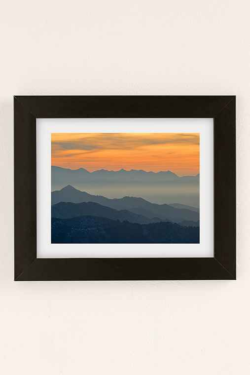Guido Montanes Sunset Mountains Art Print,BLACK MATTE FRAME,18X24