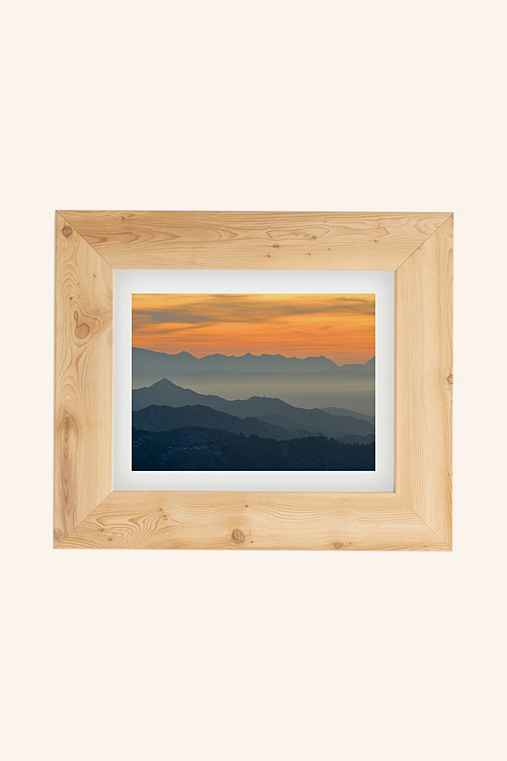 Guido Montanes Sunset Mountains Art Print,PINE,18X24