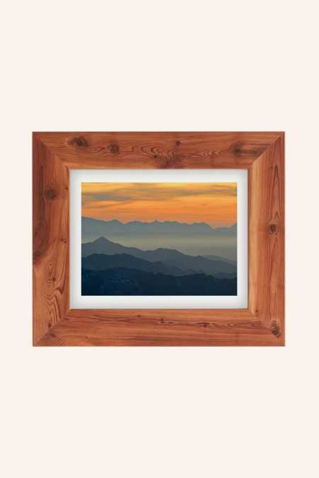 Guido Montanes Sunset Mountains Art Print