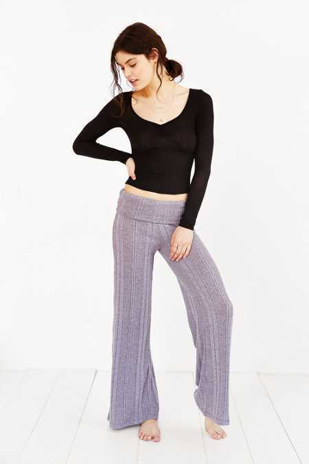 Out From Under Ribbed Wide-Leg Pant