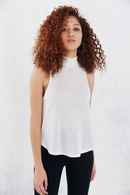 Silence + Noise Ripple Mock-Neck Cami